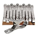 Amison 10PCS Stainless Steel Beach Towel Clips Keep Your Towel From Blowing Away