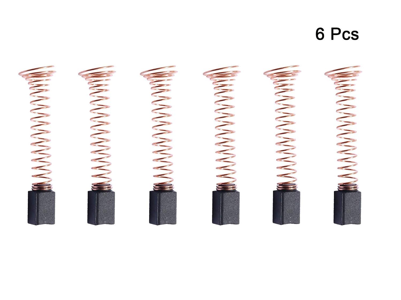 6 PCS Carbon Motor Brushes Compatible Dremel 90930-05 Brush Repairing Part for Dremel 275, 285, 300, 395, 595(Type 3,4,5)