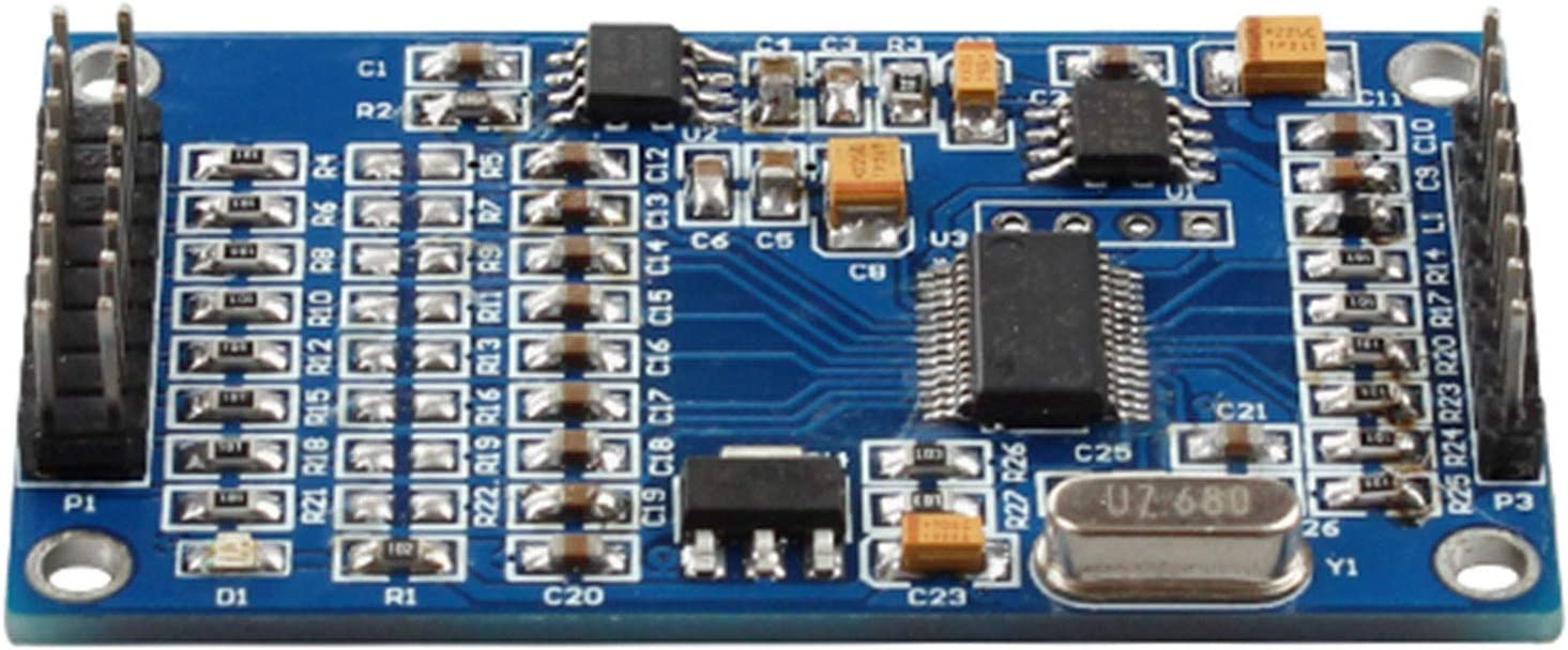 Suitable for Measuring Analog Voltage Within 3V ADS1256 24 Bit 8 Channel ADC AD Module High Precision ADC Data Acquisition Card