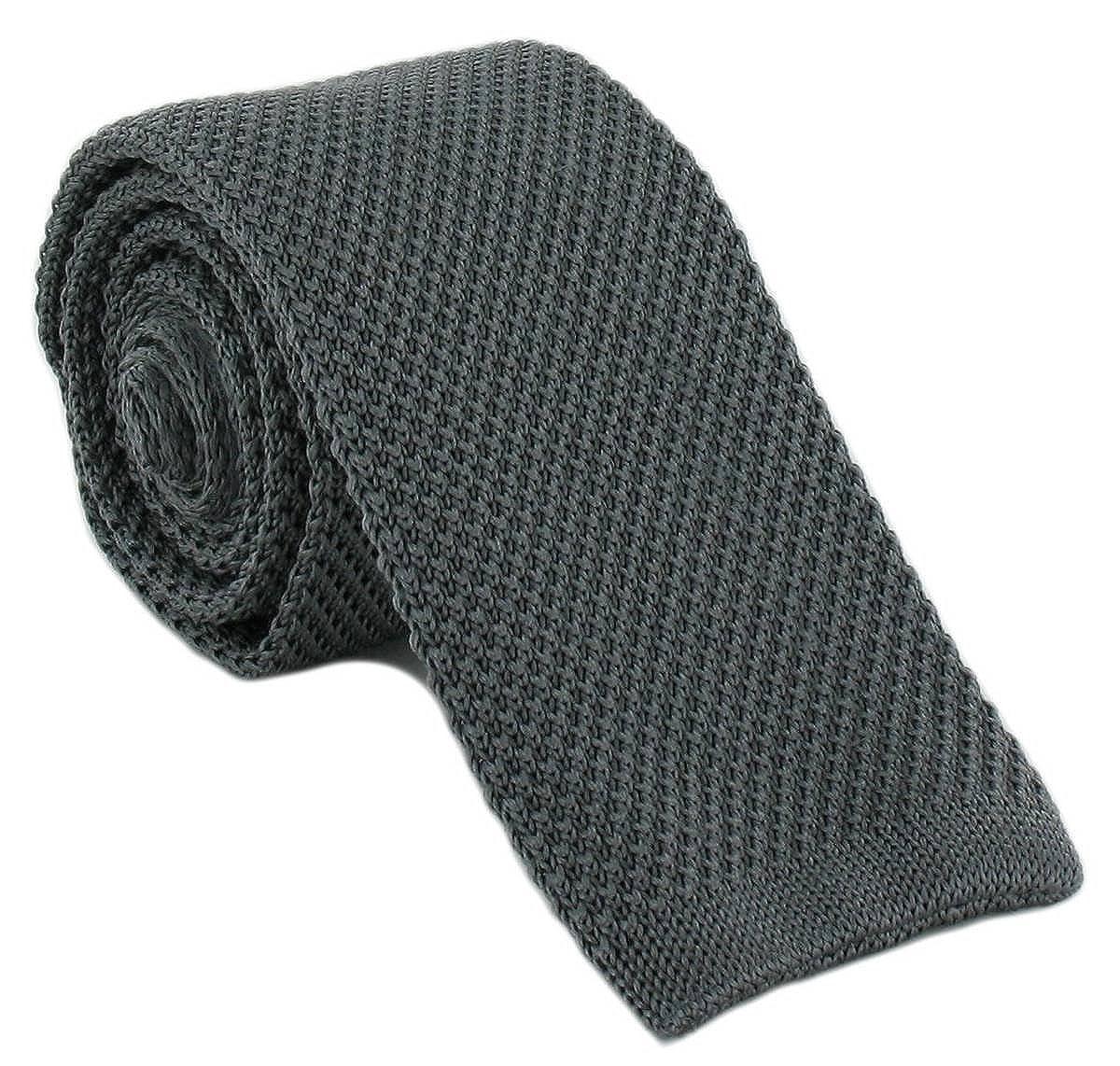 Michelsons of London Holzkohle d/ünne Seide gestrickte Krawatte