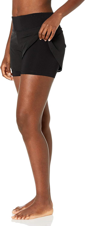 4 inch CRZ YOGA Femme 2 en 1 Shorts de Running Pantalon de Sport Court avec Poche /à Zipp/é