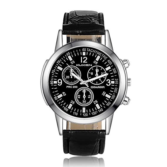 Reloj para hombres, Reloj de pulsera para hombre KUXIEN Reloj Analógico de Cuarzo ,Reloj