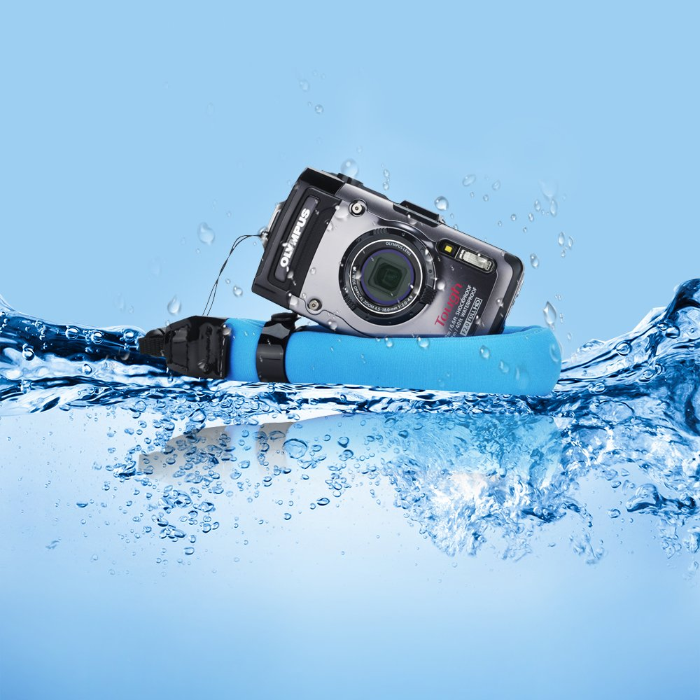 JJC Waterproof Camera Float Strap Cell Phone Float Strap for Underwater Camera Such as Olympus TG-5 Nikon W300 Canon D30 Fuji XP80 GoPro Hero Series /& Smartphone iPhone Samsung Inside Waterproof Case
