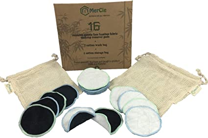 Almohadillas desmaquillantes lavables| 16 discos de bambú ...