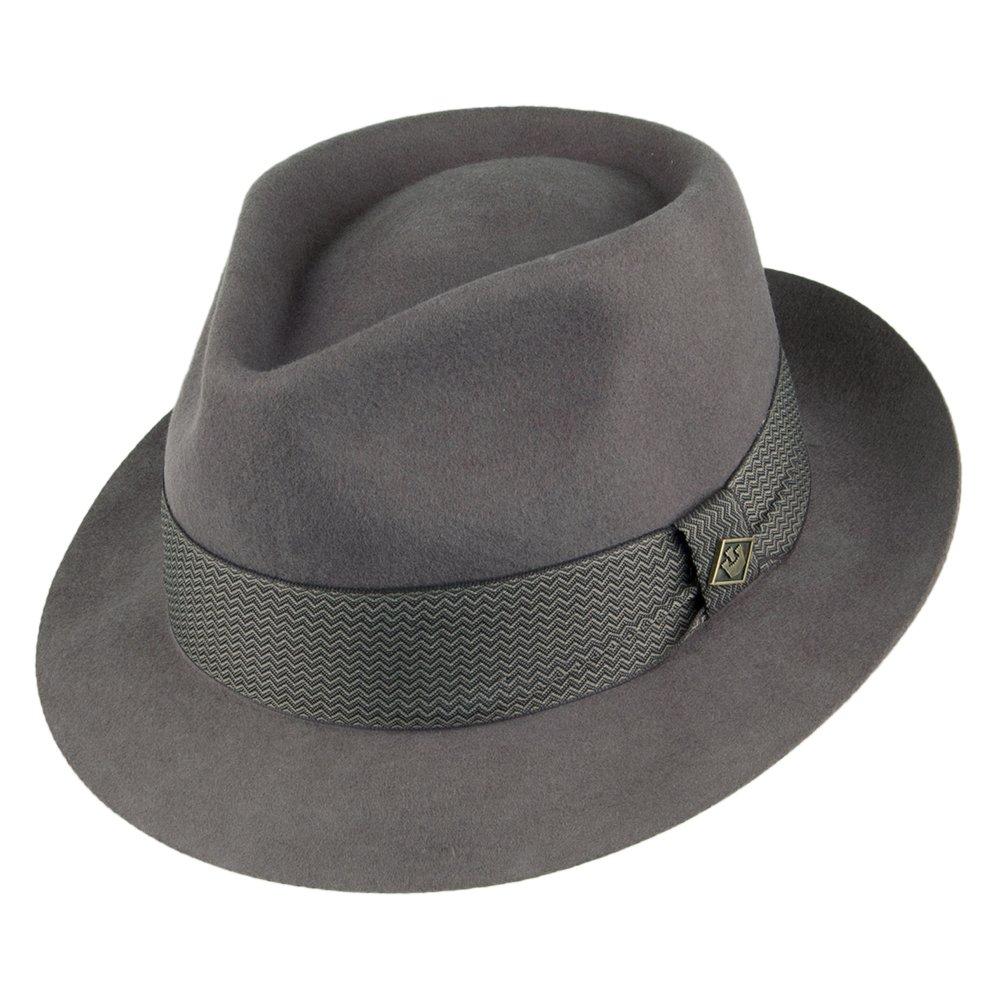 Goorin Bros. Griffin Fedora Hut aus Wollfilz - Grau