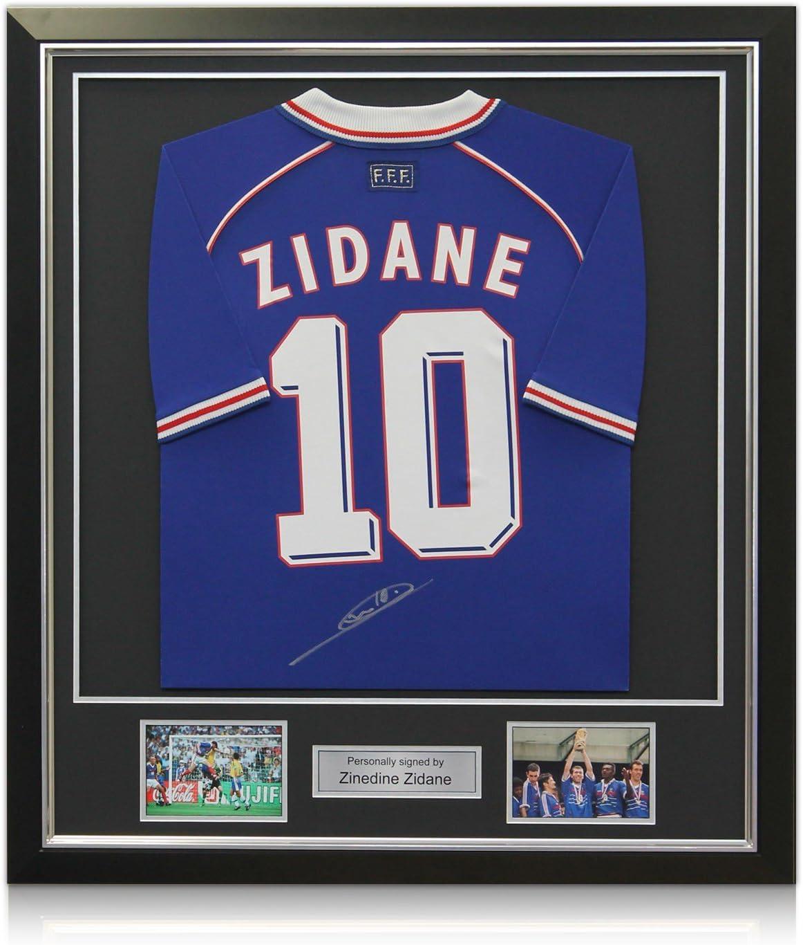 exclusivememorabilia.com Deluxe Enmarcado Firmado Zinedine Zidane ...