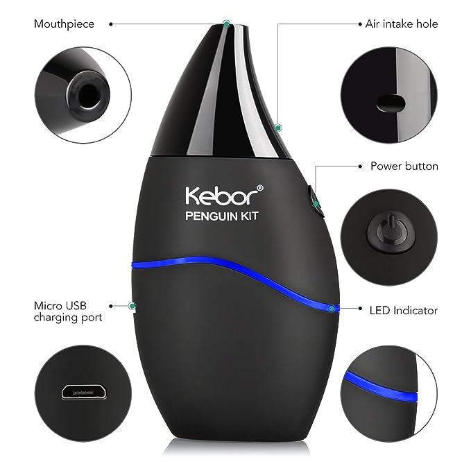 Kebor Penguin 30W E Cigarrillo Vape Starter Kit con 10mL Eliquid Sin Nicotina Ecig 800mAh Batería 2mL Atomiser Sin fugas Prueba de fugas Todo en uno ...
