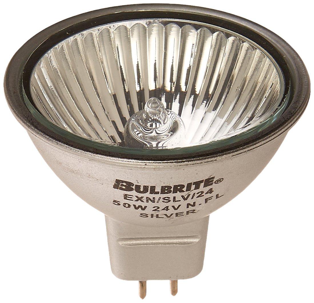 Bulbrite EXN SLV 24 50 Watt 24 Volt Halogen MR16 Bi Pin Silver Flood