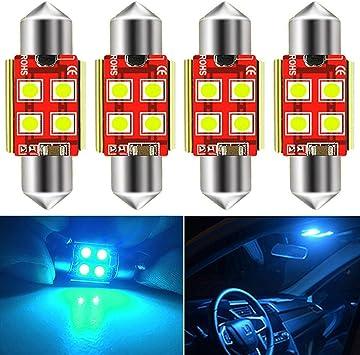 4x 36mm LED Festoon Bulbs 10-2835-SMD Pure White Dome License Plate Light AC12V
