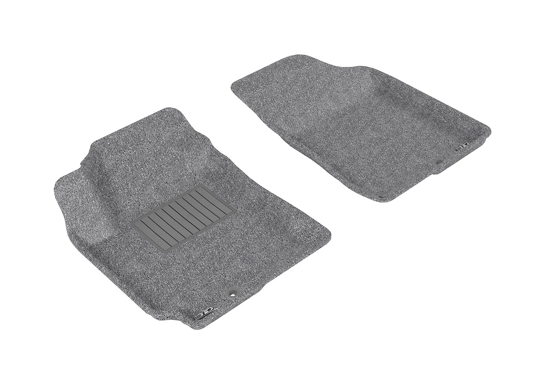 3D MAXpider Second Row Custom Fit Floor Mat for Select Hyundai Elantra Models Gray Classic Carpet