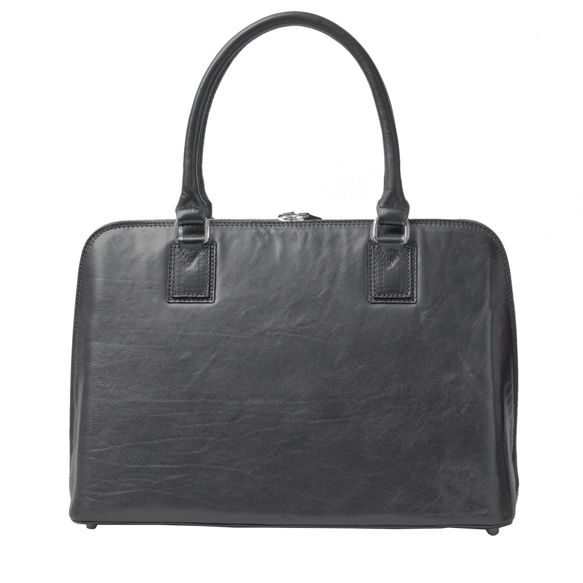 Maxwell Scott Luxury Ladies Black Leather Work Bag Purse for Macbook (Fiorella) by Maxwell Scott Bags (Image #5)