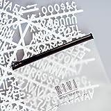 "RIVI 3/4"" Inch 290 Character Plastic Helvetica Sprue Letter Set"