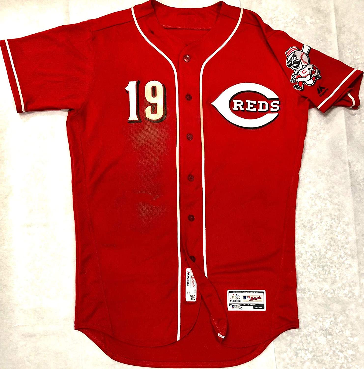 check out 705d0 fb7e2 Cinncinatti Reds Joey Votto Signed Game Used Home Run Jersey ...