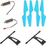 Genuine Spare Parts U49W Drone Crash Pack includes Motors, Propellers and Landing gear - Blue