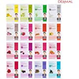 Dermal Korea Collagen Essence Full Face Facial Mask Sheet A+B Full Color SET