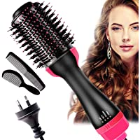 AU PLUG Hot Air Brush,One Step Hair Dryer& Volumizer Dryer, Volumizing Styler Comb 4in1 Negative Ion Hot Volumizer Hair…