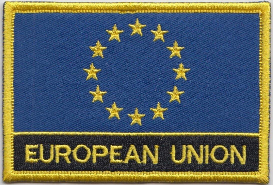 Parche rectangular, diseño de la bandera de España (se puede coser ...