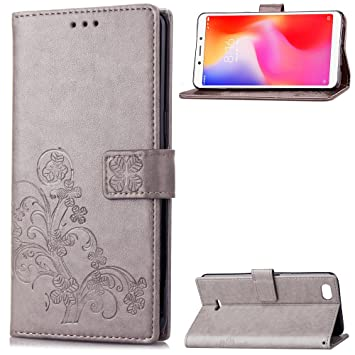 Funda Xiaomi Redmi 6A, LAGUI Los Adornos Bien Definidos y Grabados Carcasa Tipo Libro, de ranuras para tarjetas y soporte horizontal y solapa con ...