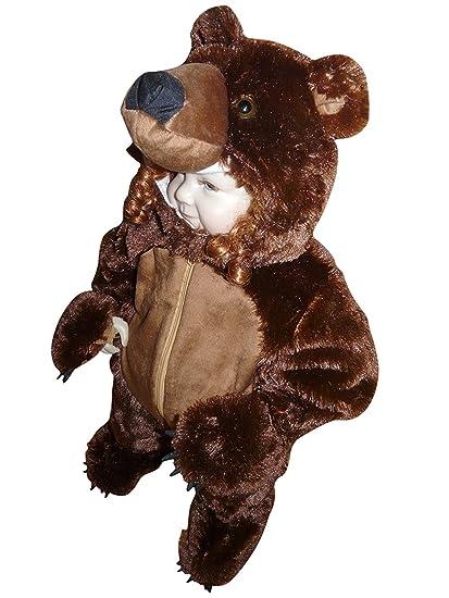 F67 Tamaño 2-3 años Brown Bear traje para bebés y niños pequeños, cómodo de llevar en la ropa normal