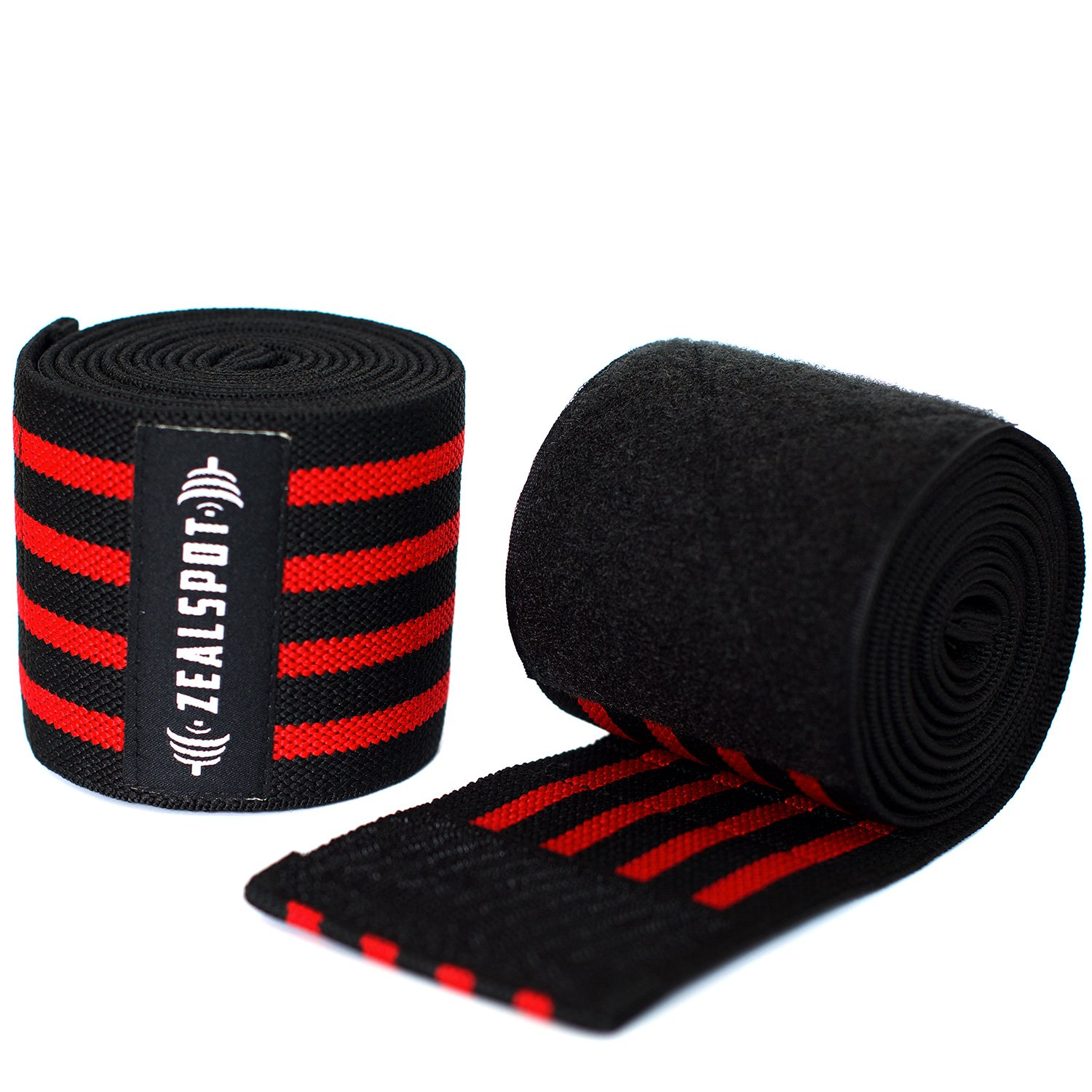 Compression & Elastic Support for Cross Training,WODs,Gym Best Knee Straps for Squats -for Men & Women- 72 Workout,Weightlifting,Fitness & Powerlifting Zealspot Knee Wraps Pair