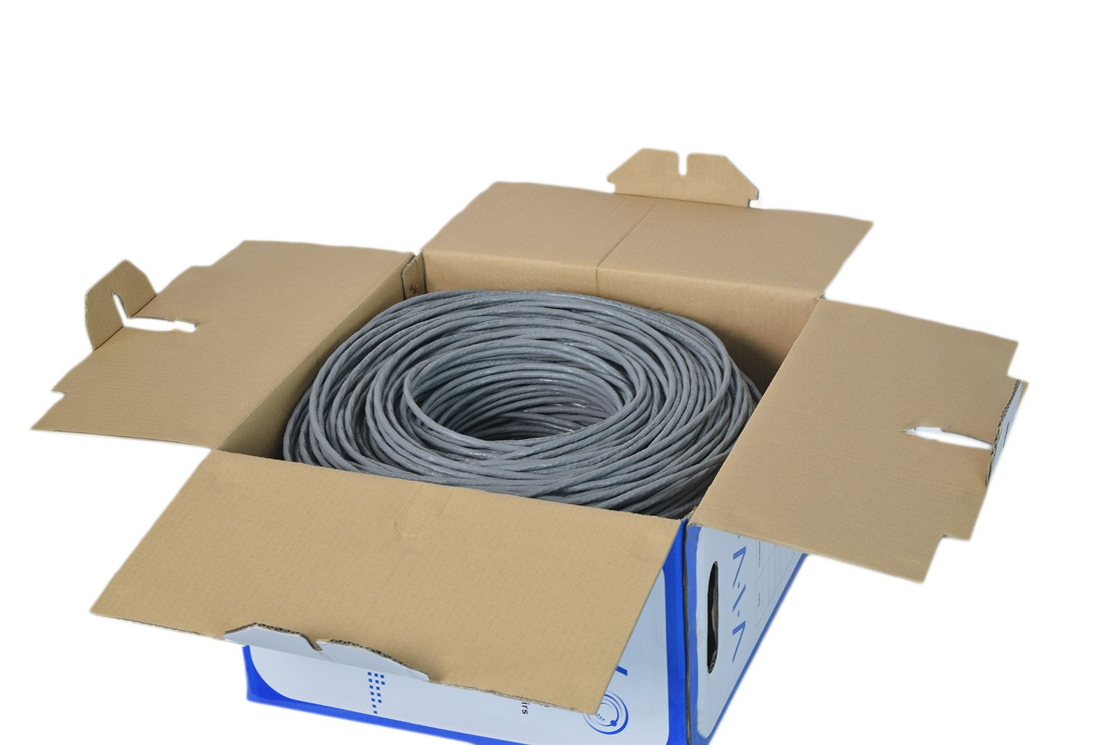 New Full Copper 1,000 ft bulk Cat6 Ethernet Cable / Wire UTP Pull Box 1,000ft Cat-6 Grey ~ VIVO (CABLE-V009) by VIVO (Image #2)
