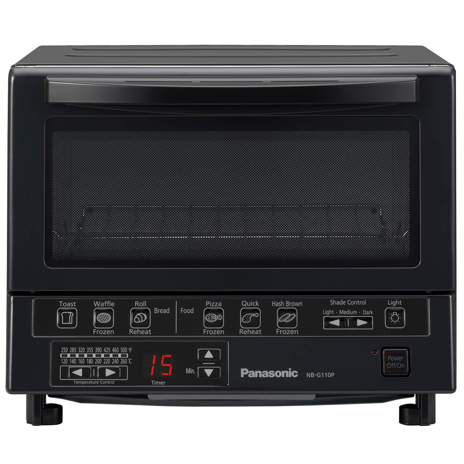 Panasonic NB-G110P-K FlashXpress Toaster Oven with Double Infrared Heating and Removable 9-Inch Inner Baking Tray, 1300W, 4-Slice, Black by Panasonic