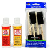 Mod Podge Basics Bundle with 6 Items -- Gloss and Matte Medium with 4 Foam Brushes -- Comes with Photo Project Instructions!