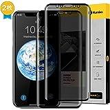 【Humixx】iPhone Xs ガラスフィルム iPhone X ガラスフィルム iphonex ガラスフイルム のぞき見防止 3D 9H 全面保護 防指紋 光沢 気泡レス加工 アイフォンx液晶保護フィルム プライバシーガード ブラック