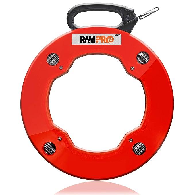 ram-pro 200 pies Reach, acero cinta de peces carrete, con alto ...