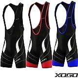 XOGO Men's Quality Cycling Bib Shorts Coolmax® Padding Cycle Tights.