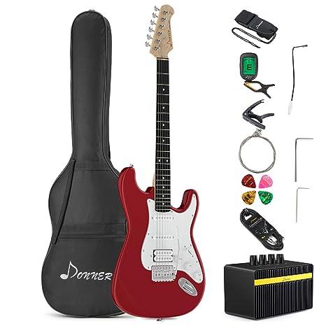 Donner DST-100R - Guitarra eléctrica de 39 pulgadas con ...