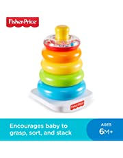 Fisher-Price FHC92 Rock-A-Stack, Baby Educational Stacking Toy Rings, Suitable for 6 Months+