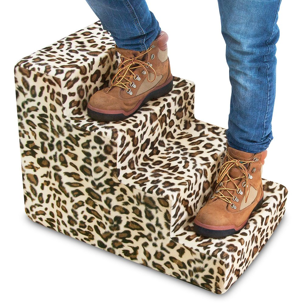 Best Pet Supplies ST225T-M Foam Pet Stairs/Steps, 4-Step, Animal Print by Best Pet Supplies, Inc. (Image #5)