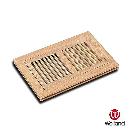 Welland 6 Inch X 12 Inch Red Oak Hardwood Vent Floor Register Flush