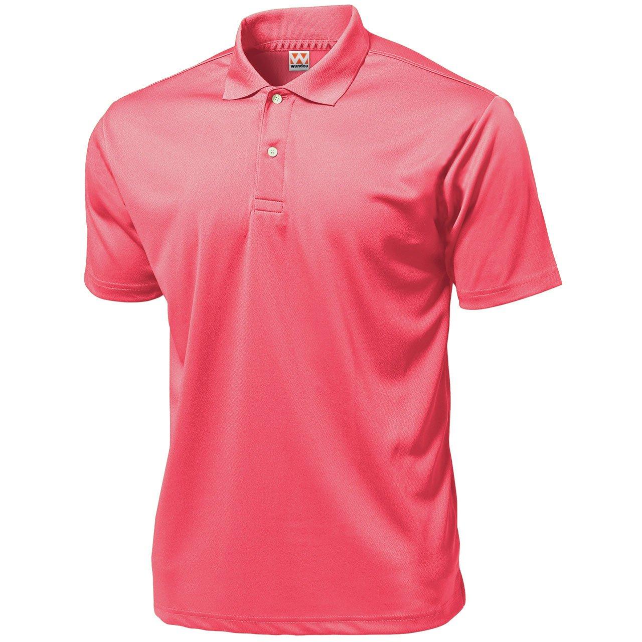 Wundou Boy's Sports Dry Light Polo-Shirts P335?130CM(51'')?Neon Pink by Wundou