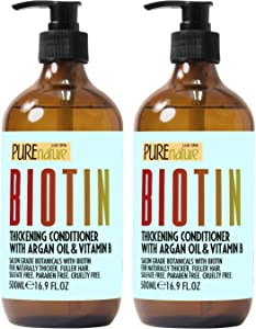 Biotin Shampoo and Conditioner ​Set - ​Sulfate Free Deep Treatment ​with​ Morrocan Argan Oil - ​Helps with​ Hair Growth ​and Fight​ Hair Loss