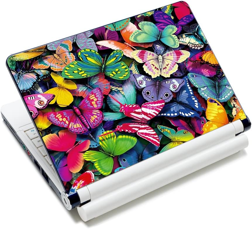 Pretty Butterflies Fashion Netbook Laptop Skin Sticker Reusable Protector Cover Case for 11.6 -15.6 Inch Apple Acer Leonovo Sony Asus Toshiba Hp Samsung Dell YNEK-131