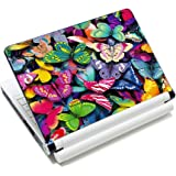 """Pretty Butterflies Fashion 11.6"""" 12.1"""" 13"""" 13.3"""" 14"""" 15"""" 15.4"""" 15.6"""" Netbook Laptop Skin Sticker Reusable Protector Cover Case for 11.6"""" -15.6"""" Inch Apple Acer Leonovo Sony Asus Toshiba Hp Samsung Dell"""