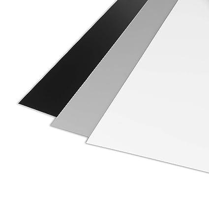 Ares Foto® Tarjeta Gris para Balance de Blancos Manual y medición de exposición. Refleja el 18% de la luz. con Tarjeta de Referencia en Blanco y ...
