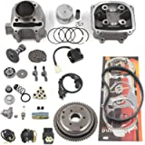 Complete GY6 Cylinder Head Rebuild Kits with valves, Trkimal 57.4mm 150cc Big Bore Upgrade Kits for 4 stroke 157QMJ…