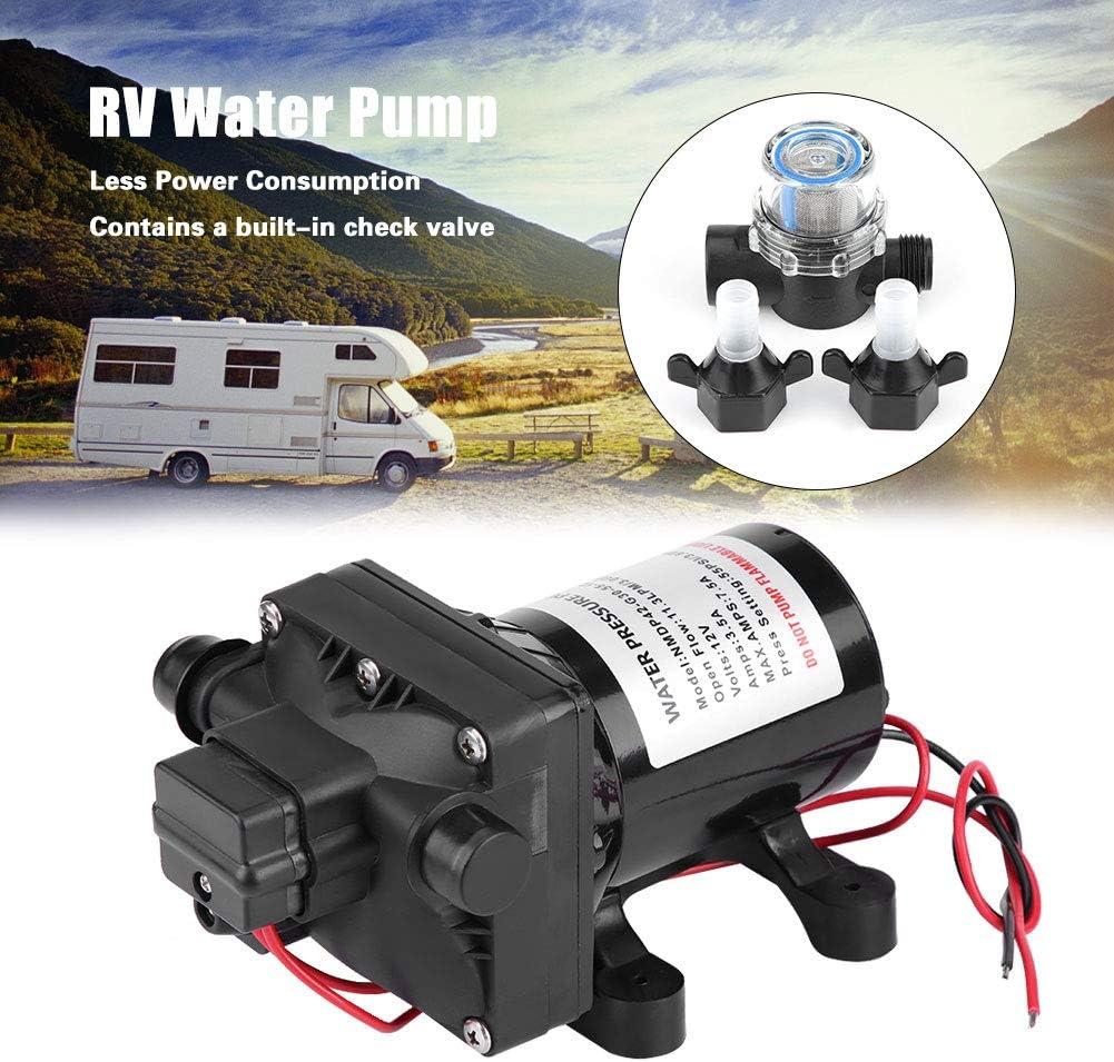 Pompe /à eau automatique interrupteur r/églable avec valve de retenue pour camping-car 4 chambres de la pompe /à membrane pression de leau van et caravane DC 12 V basse consommation /énerg/étique
