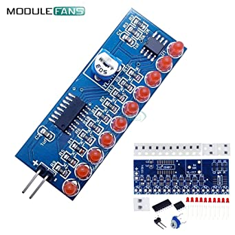 Active Components Electronic Components & Supplies Ne555 Cd4017 Running Led Flow Light Electronic Production Suite Board Diy Kit Module Capacitor Control Oscillator Clock Siganal