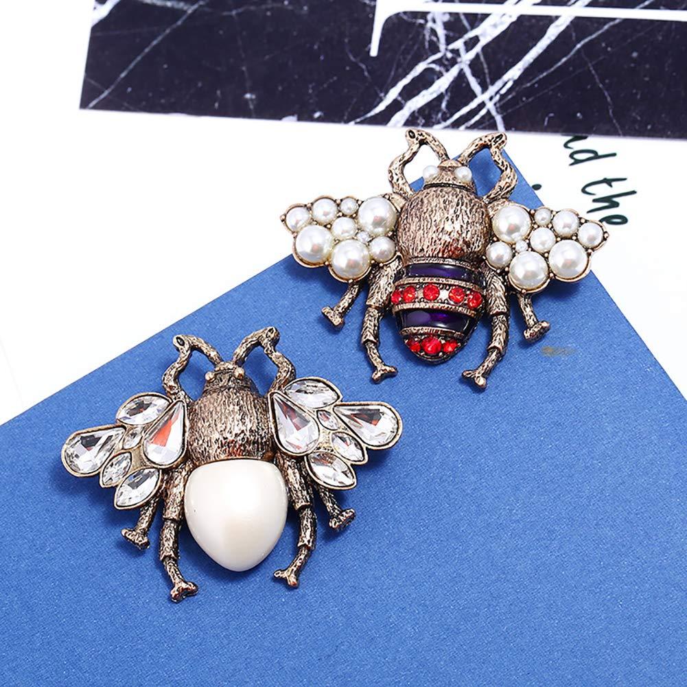 1pc v/êtements st/ér/éo 3D Bee Pearl broches cute abeille broche perle femmes broche et broche pour les filles dames et les femmes