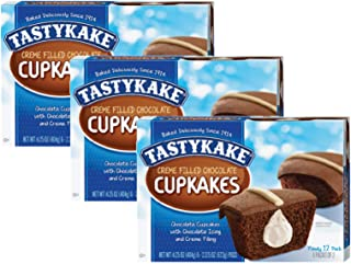 product image for Tastykake Cupkakes in Your Choice of Four Varieties Family Size 12 Pack- A Philadelphia Baking Institution (Creme Filled Chocolate, 3 Pack)