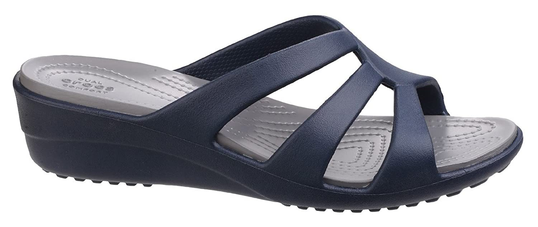 Crocs Sanrah Strappy Wedge Sandalias con Cu/ña para Mujer