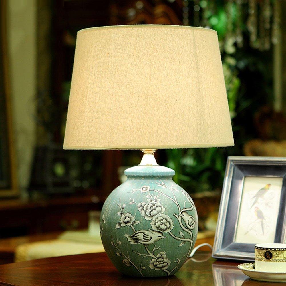 Lámpara de Mesa Global cerámica Pintada del jardín de de de la Sala de Estar del Dormitorio def45b