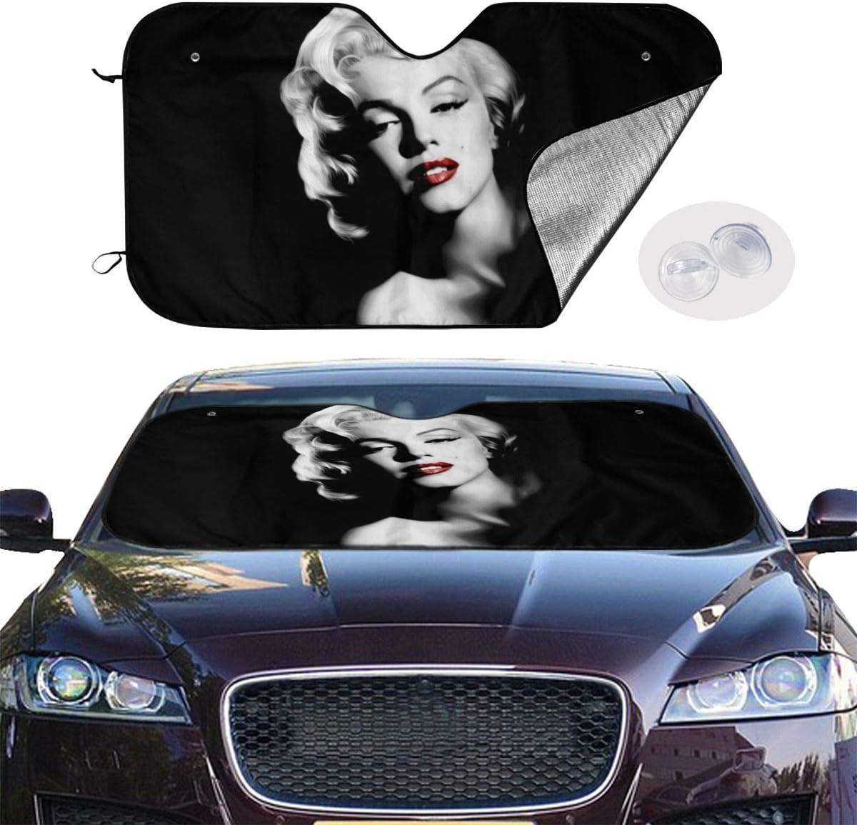 Coche Sombrillas para autom/óvil Universal Protector de la Cubierta del Protector con 4 ventosas 30x55 Pulgada GFHTH Marilyn Monroe Parabrisas Sombrillas Bloques Rayos UV Visera Plegable para el Sol