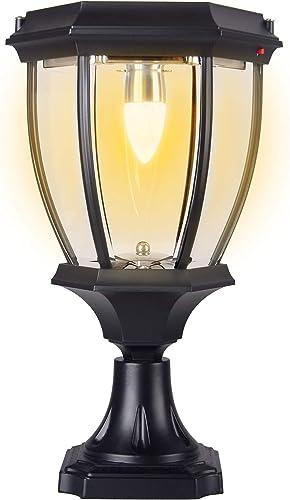 Kendal Large Outdoor Solar Powered LED Light Warm White Pillar Lamp SL-8407 1