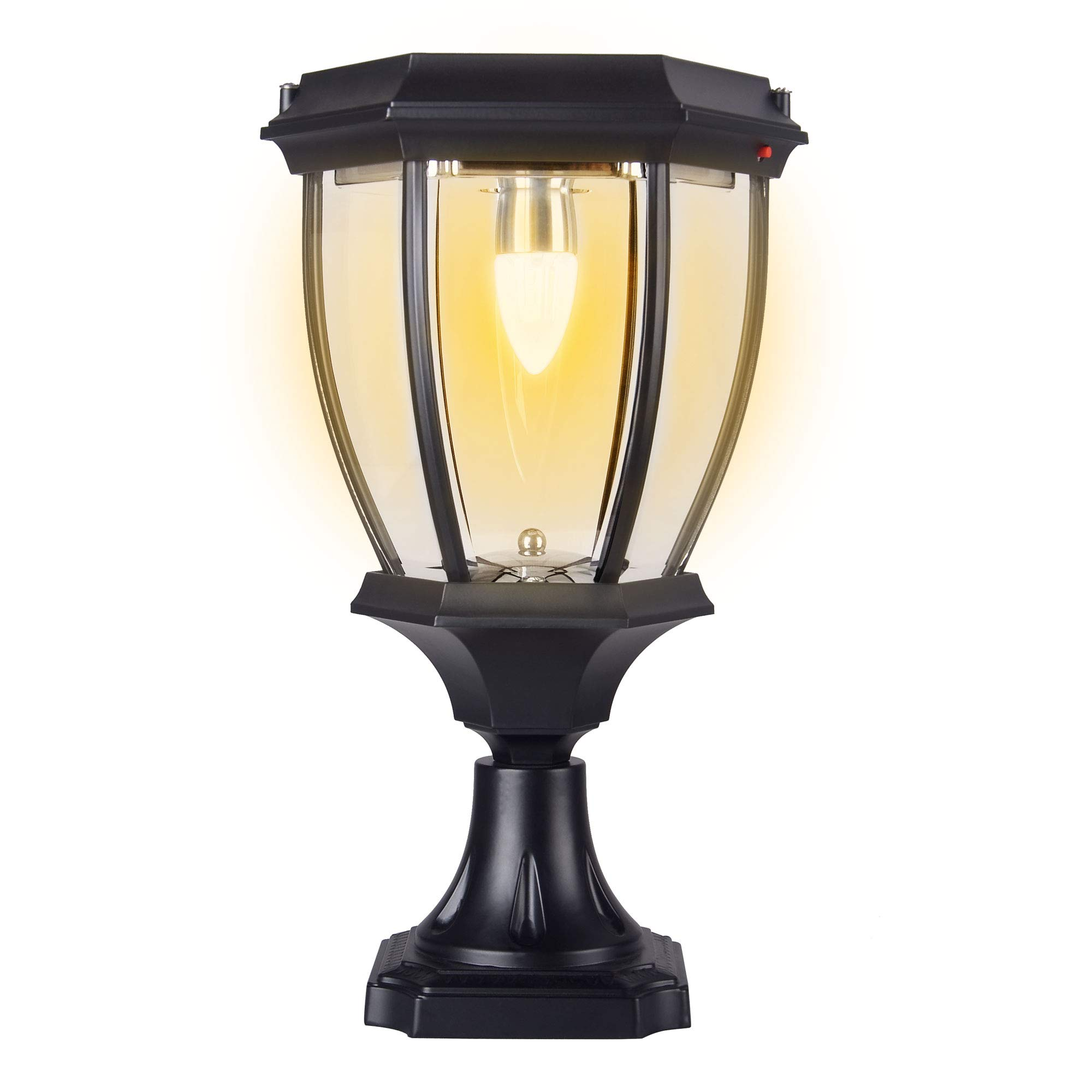 Kendal Large Outdoor Solar Powered LED Light Warm White Pillar Lamp SL-8407 by Kendal