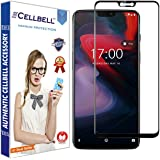 CELLBELL® Oneplus 6 (Full Glue)(Edge to Edge)(Black) Tempered Glass Screen Protector with Free Installation Kit